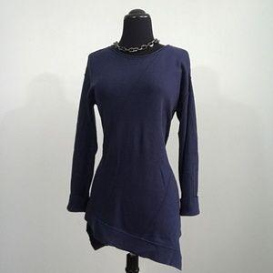 Chicos Cashmere Blend Asymmetrical Hem Sweater